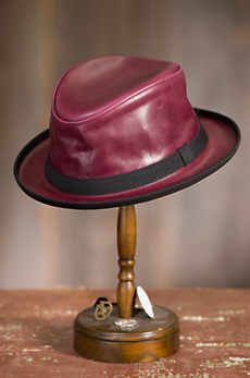 Soho Crushable Oiled Leather Fedora Hat