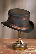 Steampunk Balance Leather Top Hat