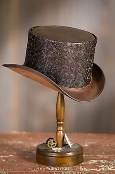 Steampunk Gent Leather Top Hat