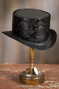 Steampunk Royale Leather Top Hat