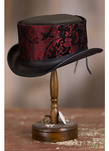 Steampunk Altar Leather Top Hat