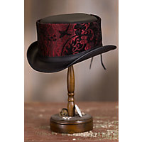 Victorian Style Hats, Bonnets, Caps, Patterns Steampunk Altar Leather Top Hat RED Size XXLARGE 7.757.88 $167.00 AT vintagedancer.com