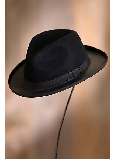 Trilby Wool Felt and Leather Fedora Hat