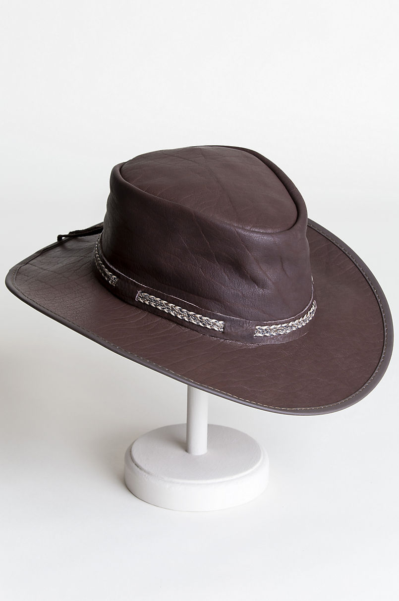 45daf774f69 Ridgeway Crushable American Bison Leather Outback Hat