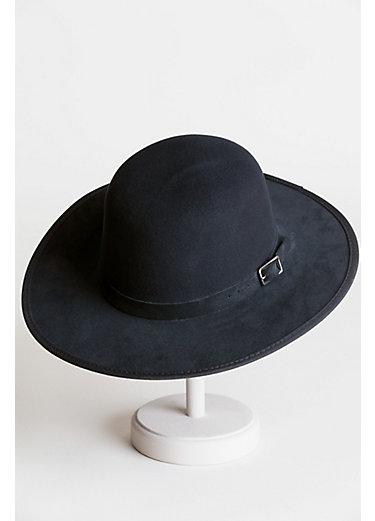 Leslie Wool Felt Western Bowler Hat