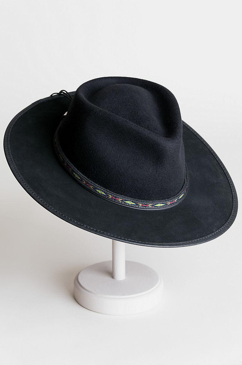 Bushwick Wool Felt Western Fedora Hat  e61ed485466