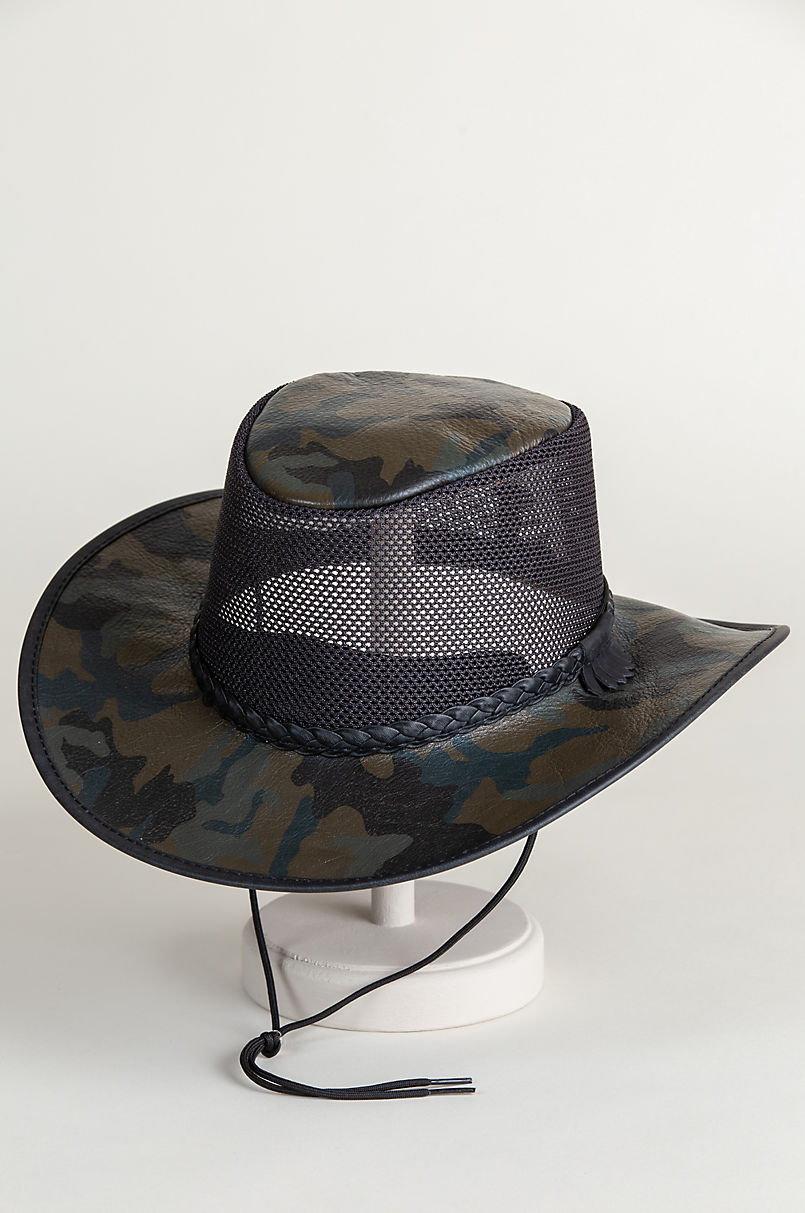 Camo Leather Breezer Western Hat