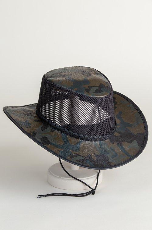 f6041e976ce Jase Camo Leather Breezer Western Hat