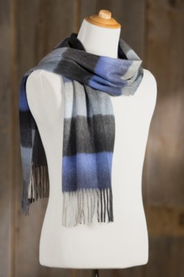 Classic Plaid Cashmere-Blend Merino Wool Scarf