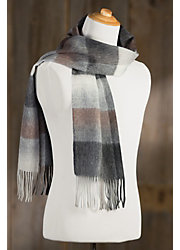 Classic Plaid Merino Wool & Cashmere Scarf