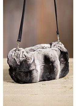 Spanish Rex Rabbit Fur Muff Crossbody Handbag