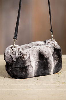 Spanish Rex Rabbit Fur Muff Crossbody Handbag