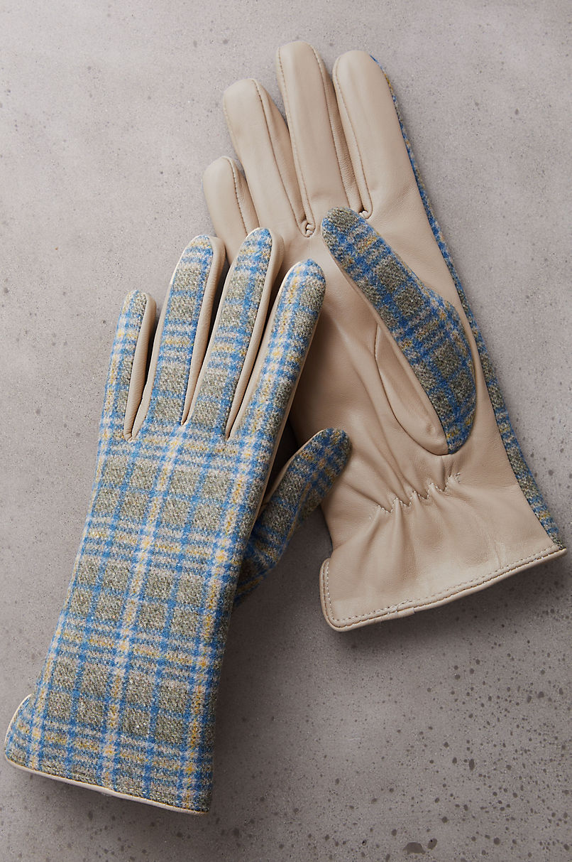 Women's Rowan Cashmere-Lined Wool and Lambskin Leather Gloves