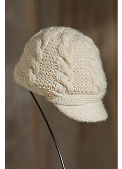 Women's Knit Wool Equestrian Hat with Fleece Lining