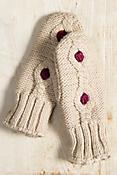 Women's Handmade Cupcake Wool Mittens