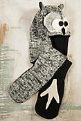 Children's Owl Handmade Wool Hat Scarf