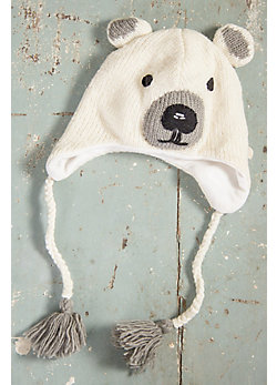 Children's Polar Bear Handmade Wool Beanie Hat