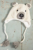 Children's Polar Bear Handmade Wool Hat