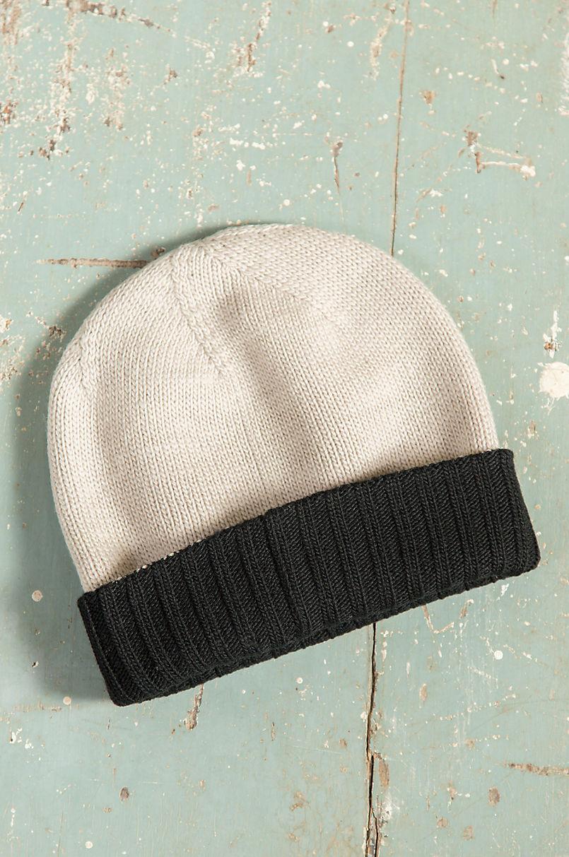 Reversible New Zealand Merino Wool Beanie Hat  57d612403dc