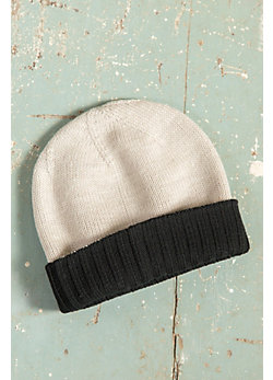 Reversible New Zealand Merino Wool Beanie Hat