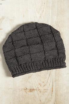 Wave Merino Wool Beanie Slouch Hat