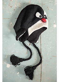Children's Penguin Handmade Wool Beanie Hat