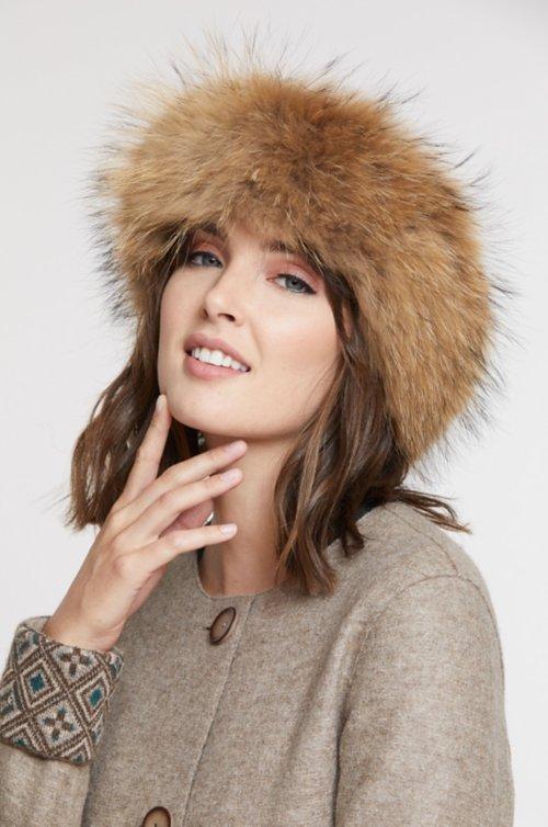 Finnish Raccoon Fur Headband