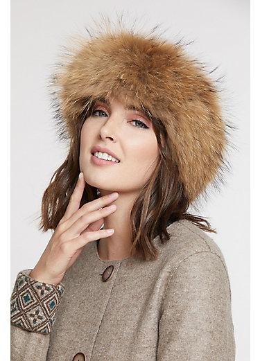 Finn Raccoon Fur Headband