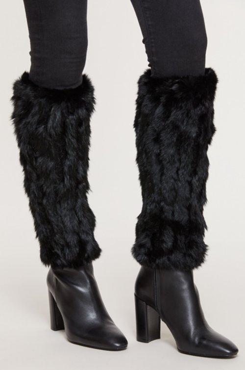 Knitted Rabbit Fur Boot Toppers