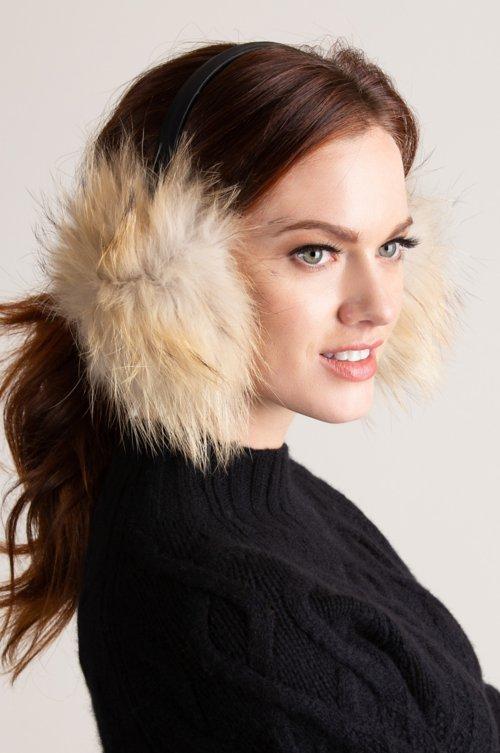 Finnish Raccoon Fur Earmuffs