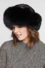 Sheared Mink Fur Cossack Hat with Fox Fur Trim