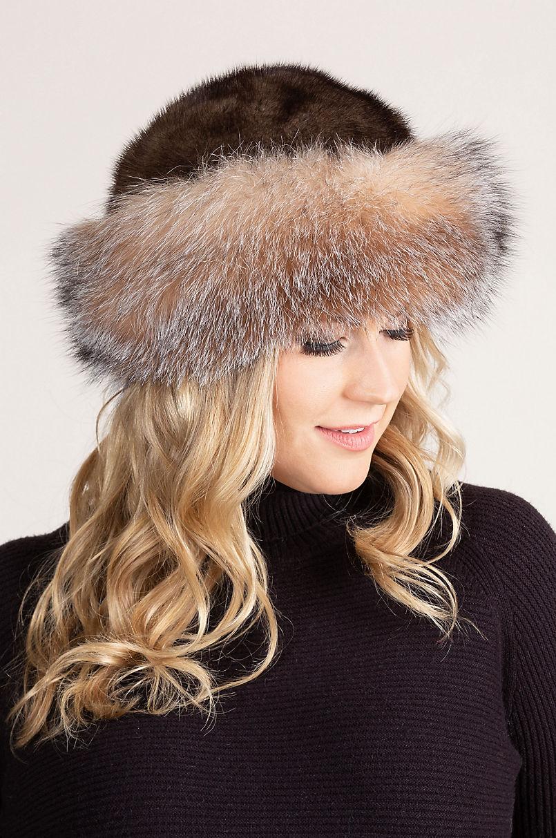 5cc74d4a978a0 Mink Fur Cossack Hat with Fox Fur Trim