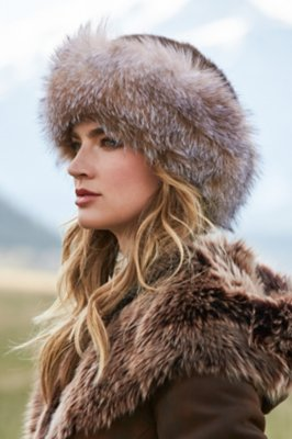 Mink Fur Cossack Hat with Fox Fur Trim