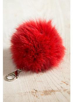 Fox Fur Pom Keychain