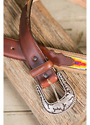 Sonora Beaded Leather Belt