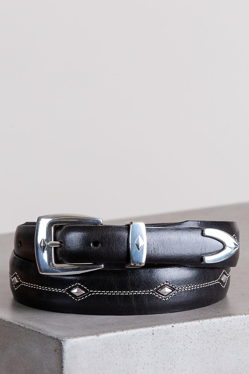 Denver Diamond Leather Belt