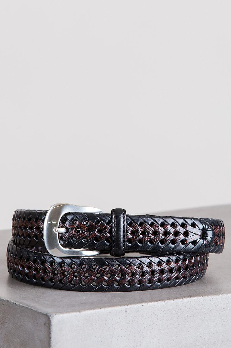 Burma Laced Leather Belt