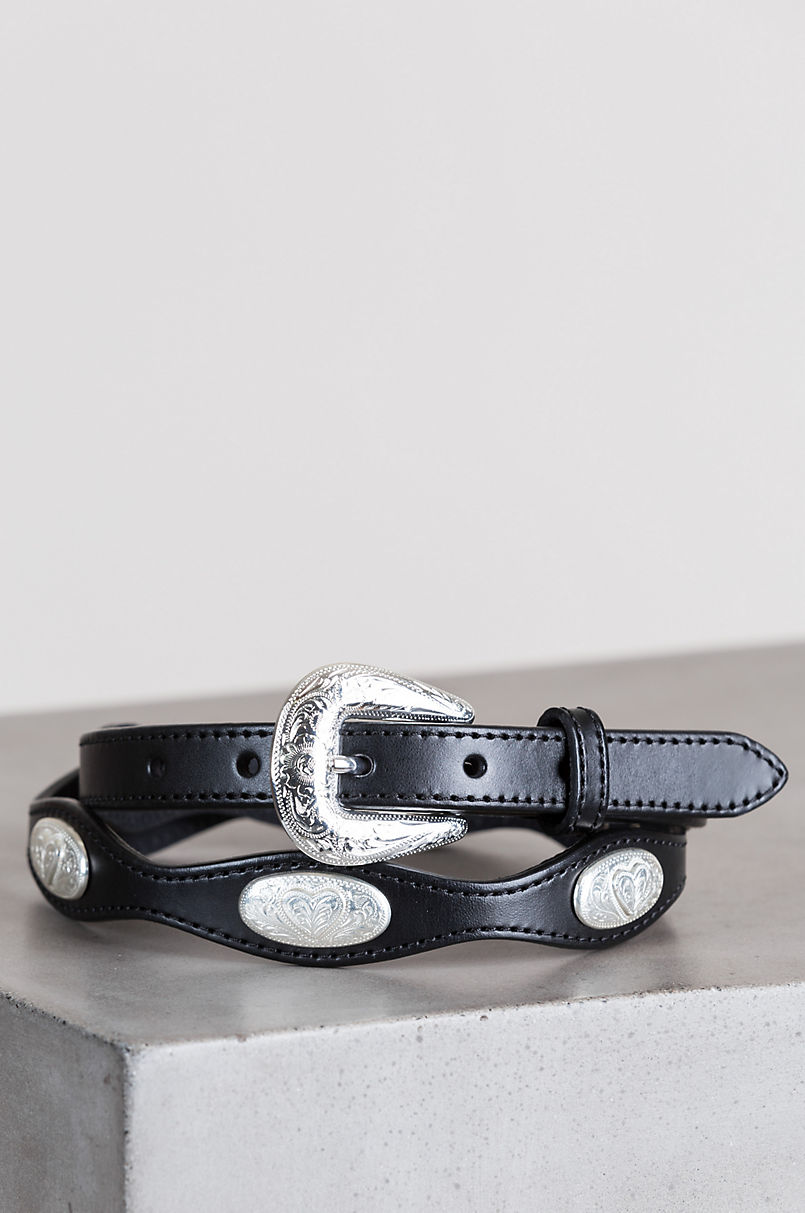 Virginia City Scalloped Leather Belt