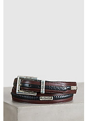 Navajo Ornament Taper Leather Belt