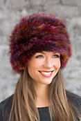 Knitted Fox Fur Hat