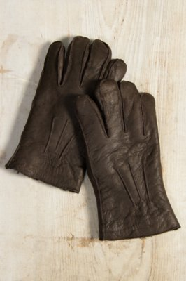 Men's Shearling-Lined Lambskin Leather Gloves