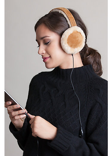 Australian Shearling-Lined Suede Headphone Earmuffs