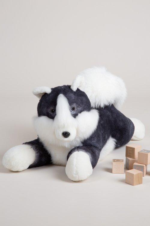 Extra Large Sheepskin Husky Dog