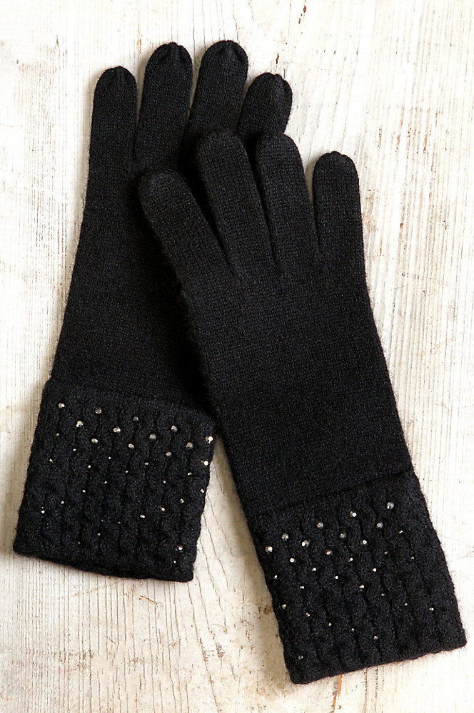 Women's Night Sparkles Knitted Cashmere Gloves