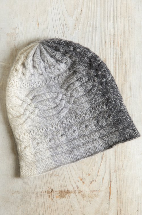 Ombre Knitted Cashmere Beanie Hat