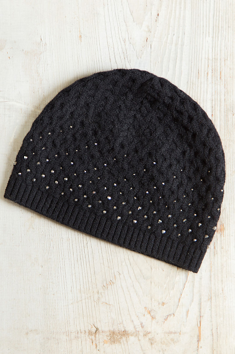 bc69cd8f518f3 Night Sparkles Knitted Cashmere Beanie Hat