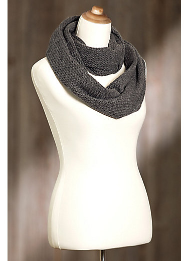 Knitted Cashmere Infinity Scarf