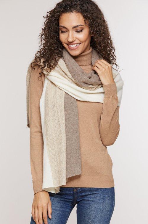 Cashmere Tri-Color Wrap