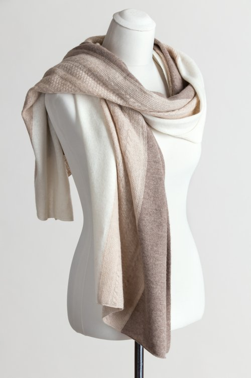 Cashmere Tri-Color Wrap