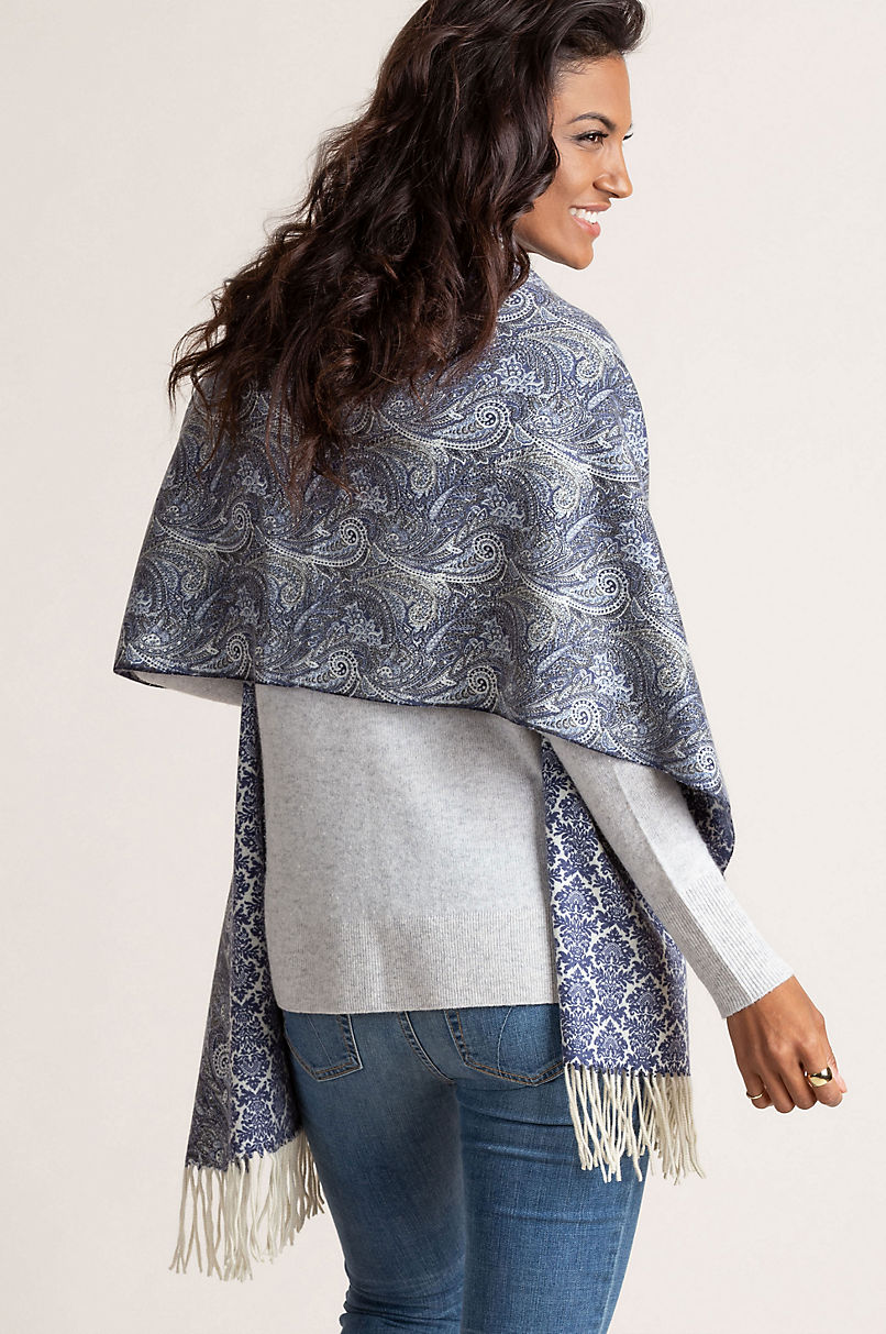 Cammie Reversible Cashmere Shawl